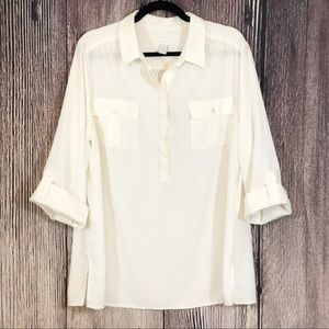 Chico's | Off White Shirt | Size XL